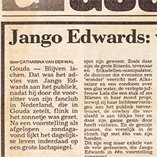 1987.12.14_Jango Edwards_Pays Bas_GOUDSCHE COURANT_220x220
