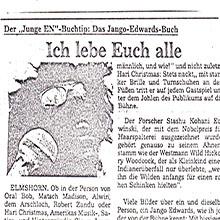 JANGO EDWARDS REVUE DE PRESSE- ALLEMAGNE - 1983 ELMSHORNER NACHRICHTEN_220x220