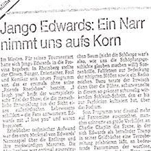 JANGO EDWARDS REVUE DE PRESSE- ALLEMAGNE - 1983 RUHR NACHRICHTEN_220x220