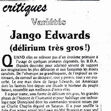 JANGO EDWARDS REVUE DE PRESSE- FRANCE - 1984 LE PARISIEN _220x220