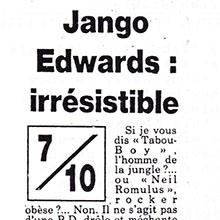 JANGO EDWARDS REVUE DE PRESSE- FRANCE - 1987 FRANCE SOIR_220x220