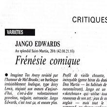 JANGO EDWARDS REVUE DE PRESSE- FRANCE - 1987 QUOTIDIEN DE PARIS_220x220